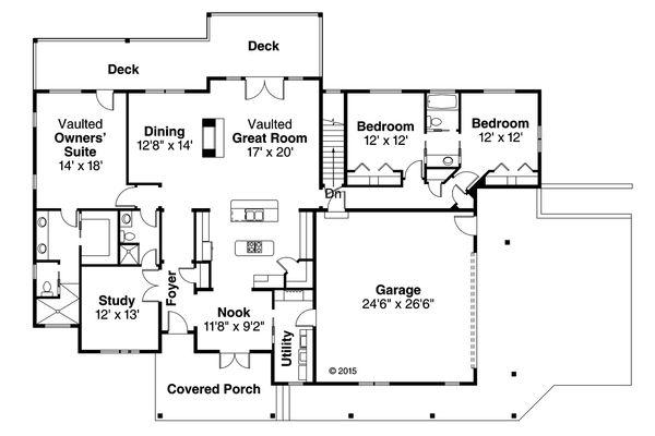 House Plan Design - Country Floor Plan - Main Floor Plan #124-1013