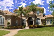 Mediterranean Style House Plan - 4 Beds 4.5 Baths 4996 Sq/Ft Plan #135-197 Exterior - Front Elevation