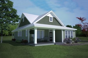 Ranch Exterior - Front Elevation Plan #991-28