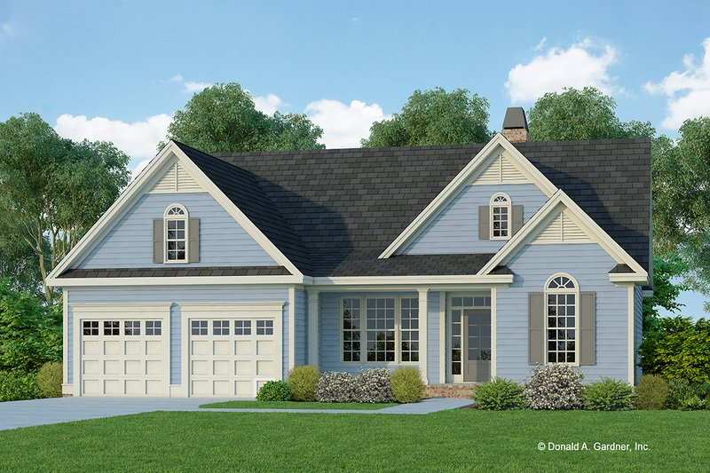 Architectural House Design - Ranch Exterior - Front Elevation Plan #929-665