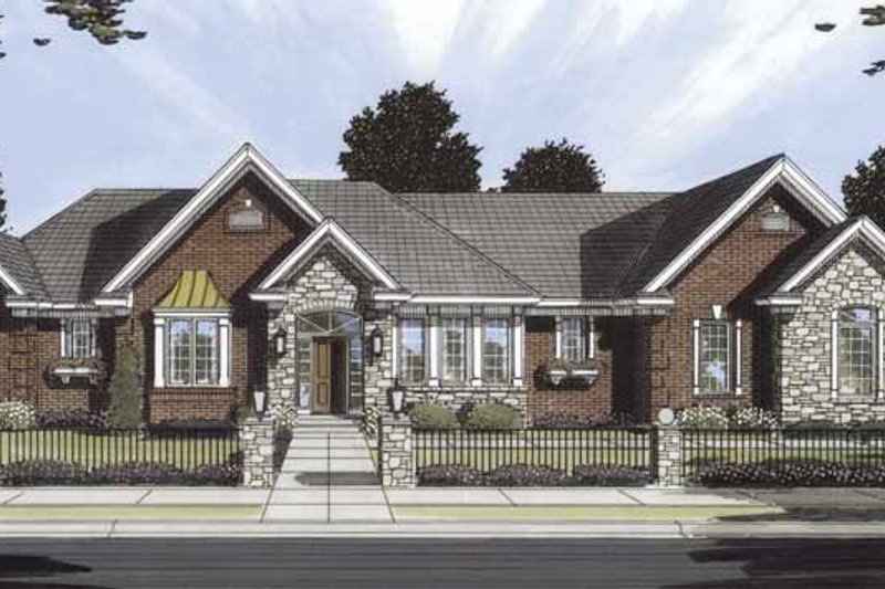 Traditional Exterior - Front Elevation Plan #46-754 - Houseplans.com