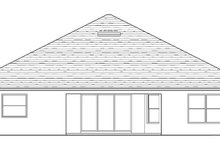Architectural House Design - Traditional Exterior - Rear Elevation Plan #1058-120