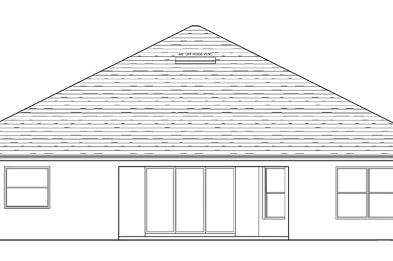 Traditional Exterior - Rear Elevation Plan #1058-120 - Houseplans.com