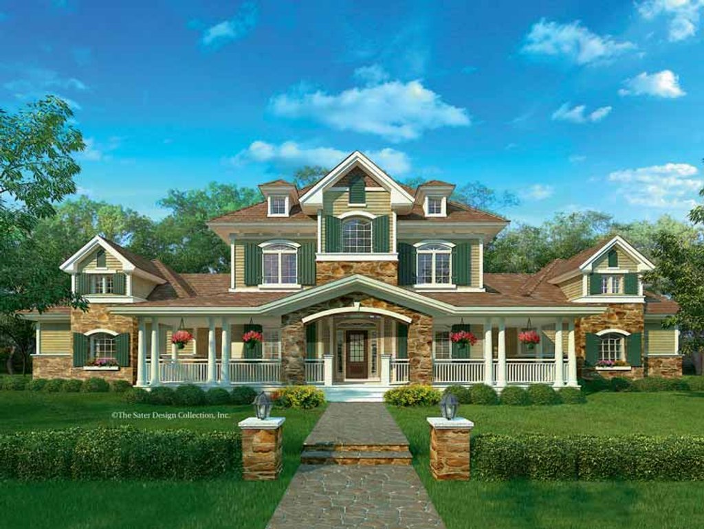 The Sater Design Collection european style house plan - 3 beds 2.5 baths 2889 sq/ft plan #930-205