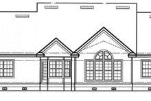 Architectural House Design - Craftsman Exterior - Rear Elevation Plan #417-797