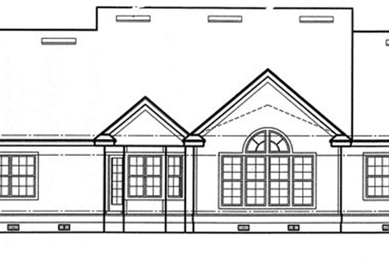 Craftsman Exterior - Rear Elevation Plan #417-797 - Houseplans.com