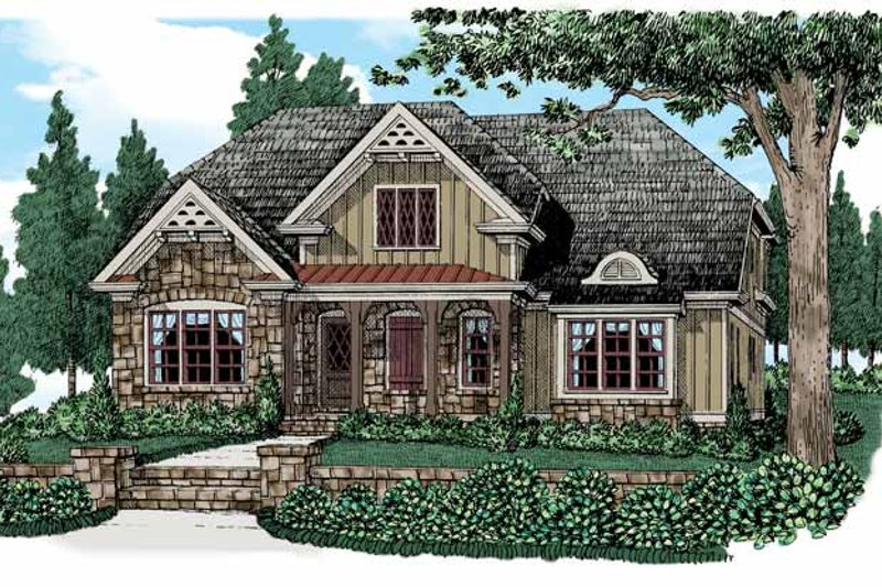 Home Plan - Country Exterior - Front Elevation Plan #927-522