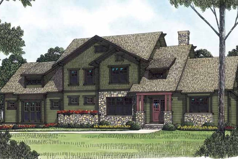 Craftsman Exterior - Front Elevation Plan #453-559