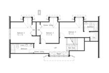 Craftsman Floor Plan - Upper Floor Plan Plan #1063-1