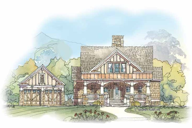 Craftsman Exterior - Front Elevation Plan #429-425
