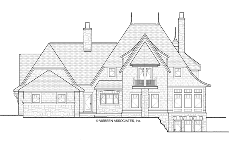 Craftsman Exterior - Rear Elevation Plan #928-244 - Houseplans.com