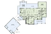 Craftsman Style House Plan - 4 Beds 4.5 Baths 3574 Sq/Ft Plan #17-2504 Floor Plan - Main Floor Plan