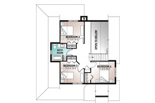 Farmhouse Floor Plan - Upper Floor Plan Plan #23-2582