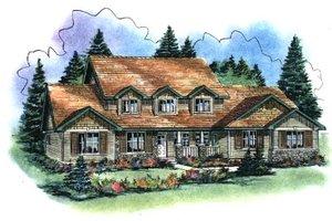 Craftsman Exterior - Front Elevation Plan #18-2007