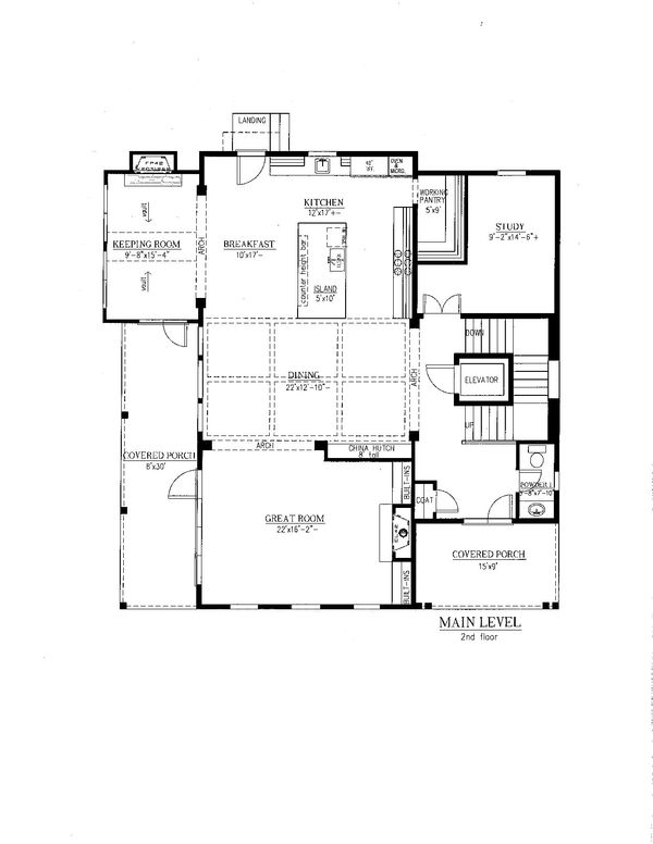 Southern Floor Plan - Main Floor Plan Plan #437-57