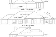 European Style House Plan - 4 Beds 2.5 Baths 2494 Sq/Ft Plan #65-379 Exterior - Rear Elevation
