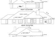 European Style House Plan - 4 Beds 2.5 Baths 2494 Sq/Ft Plan #65-379 Exterior - Rear Elevation