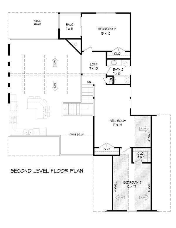 Dream House Plan - Traditional Floor Plan - Upper Floor Plan #932-418