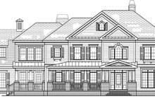 Classical Exterior - Front Elevation Plan #927-845