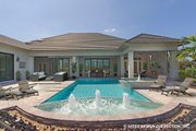 Contemporary Style House Plan - 5 Beds 4.5 Baths 4159 Sq/Ft Plan #930-509 Exterior - Rear Elevation