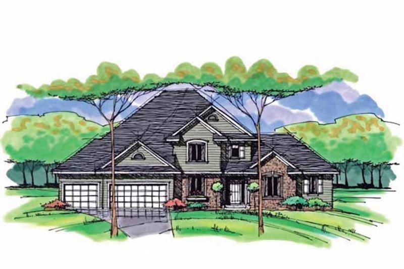 Colonial Exterior - Front Elevation Plan #51-1042 - Houseplans.com