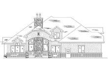 Home Plan - European Exterior - Rear Elevation Plan #5-372
