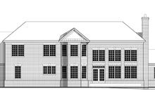 Classical Exterior - Rear Elevation Plan #1029-64
