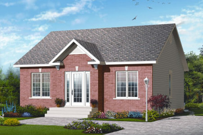 Home Plan - Traditional Exterior - Front Elevation Plan #23-2197