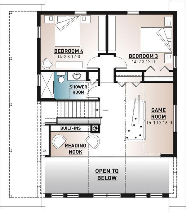 Cottage Floor Plan - Upper Floor Plan #23-2718