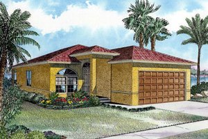 Mediterranean Exterior - Front Elevation Plan #420-201