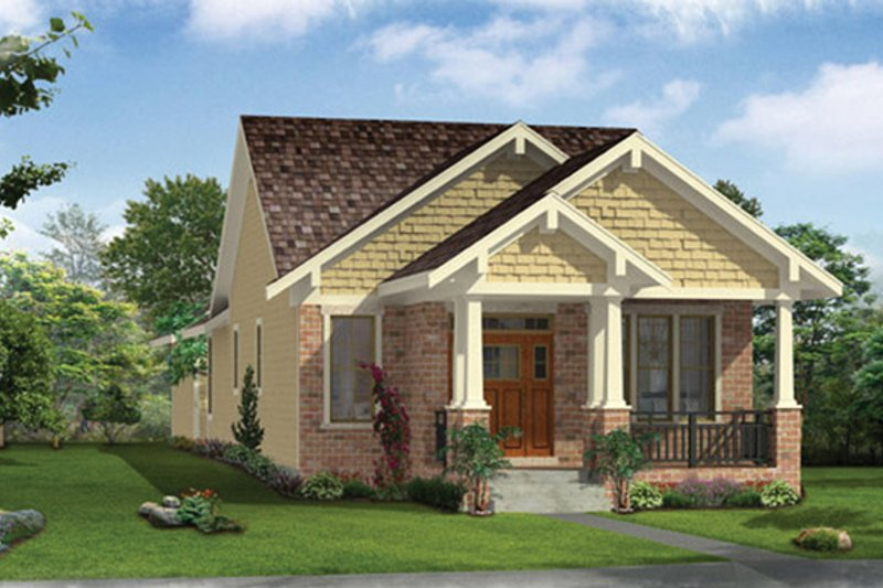 Craftsman Exterior - Front Elevation Plan #46-842 - Houseplans.com