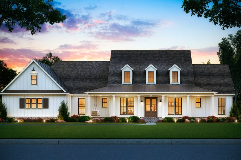 Architectural House Design - Farmhouse Exterior - Front Elevation Plan #1074-5