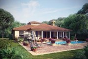 Mediterranean Style House Plan - 3 Beds 2.5 Baths 2191 Sq/Ft Plan #930-12