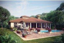 House Design - Mediterranean Exterior - Rear Elevation Plan #930-12