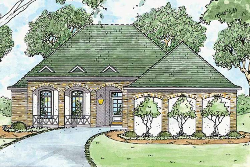 Country Exterior - Front Elevation Plan #36-573 - Houseplans.com
