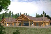 Craftsman Style House Plan - 4 Beds 4 Baths 6679 Sq/Ft Plan #117-373 Exterior - Rear Elevation
