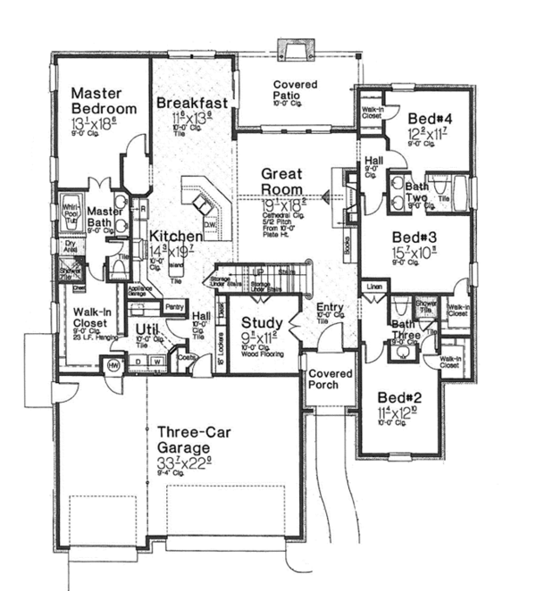 Country Floor Plan - Main Floor Plan Plan #310-1270