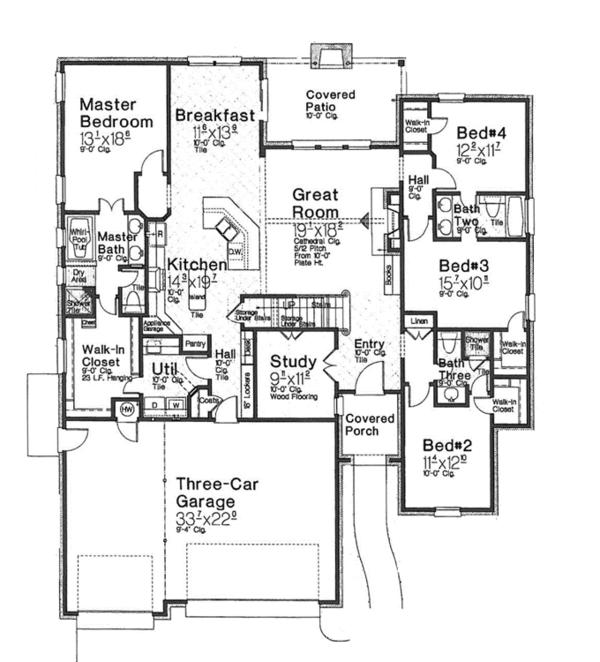 Home Plan - Country Floor Plan - Main Floor Plan #310-1270