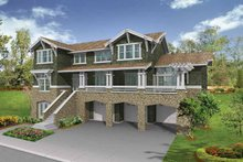 Architectural House Design - Craftsman Exterior - Front Elevation Plan #132-469
