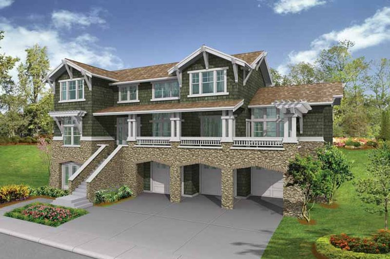 Dream House Plan - Craftsman Exterior - Front Elevation Plan #132-469