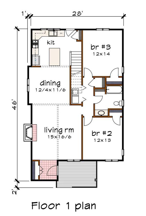 Dream House Plan - Modern Floor Plan - Main Floor Plan #79-302