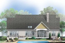 Dream House Plan - Country Exterior - Rear Elevation Plan #929-49