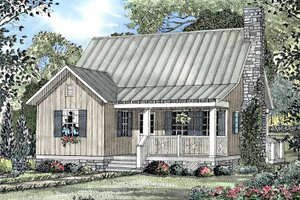 Dream House Plan - Craftsman Exterior - Front Elevation Plan #17-3122