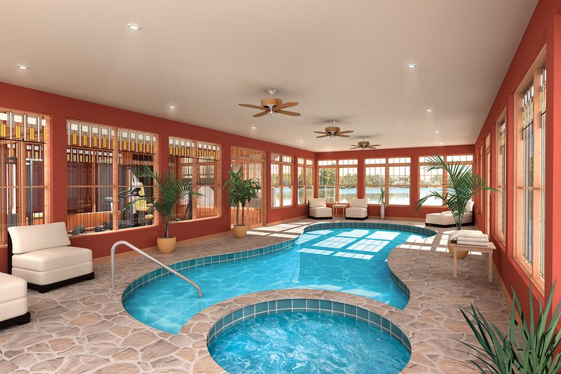 Indoor Pool - 9000 square foot Beach home