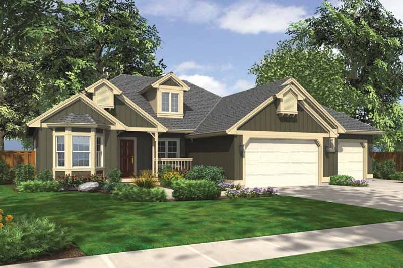 Home Plan - Ranch Exterior - Front Elevation Plan #132-535