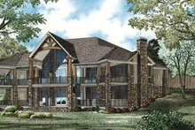 House Design - Traditional Exterior - Rear Elevation Plan #17-3302