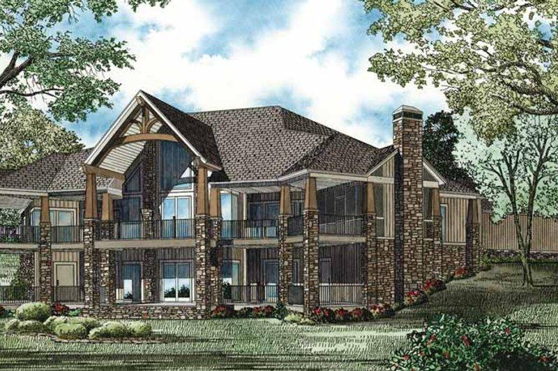 Traditional Exterior - Rear Elevation Plan #17-3302 - Houseplans.com