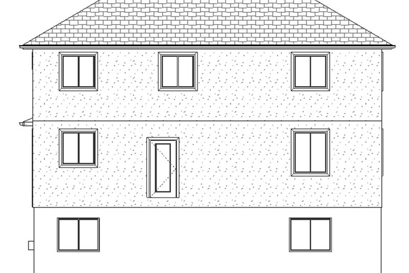 Traditional Exterior - Rear Elevation Plan #1060-7 - Houseplans.com