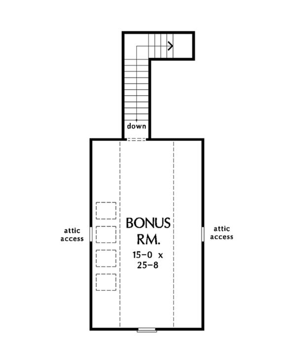 Ranch Floor Plan - Other Floor Plan Plan #929-1002