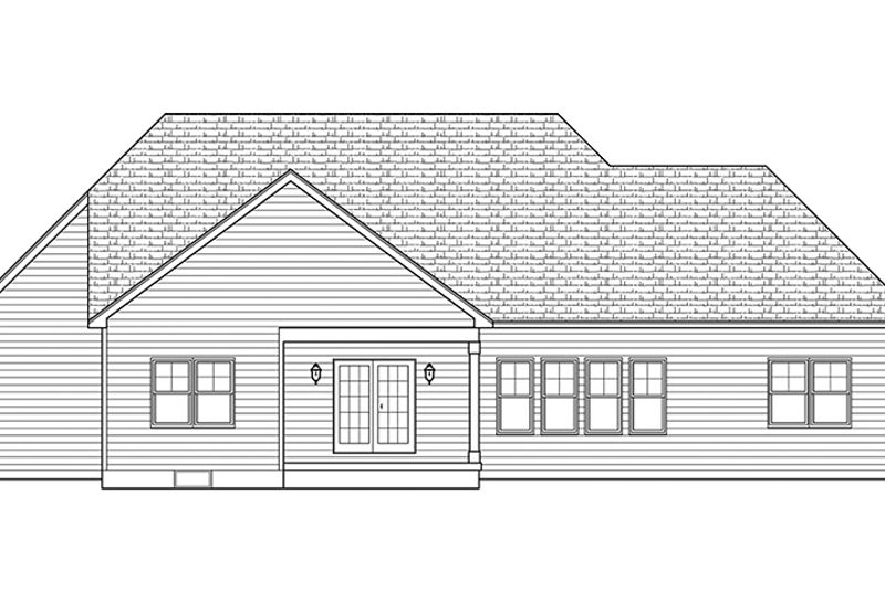 European Exterior - Rear Elevation Plan #1010-146 - Houseplans.com